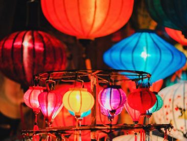 Fête des Lumières décoratives nuit