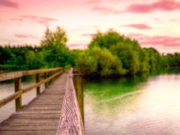 paysage d'un pont en gironde